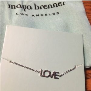 Maya brenner Love necklace